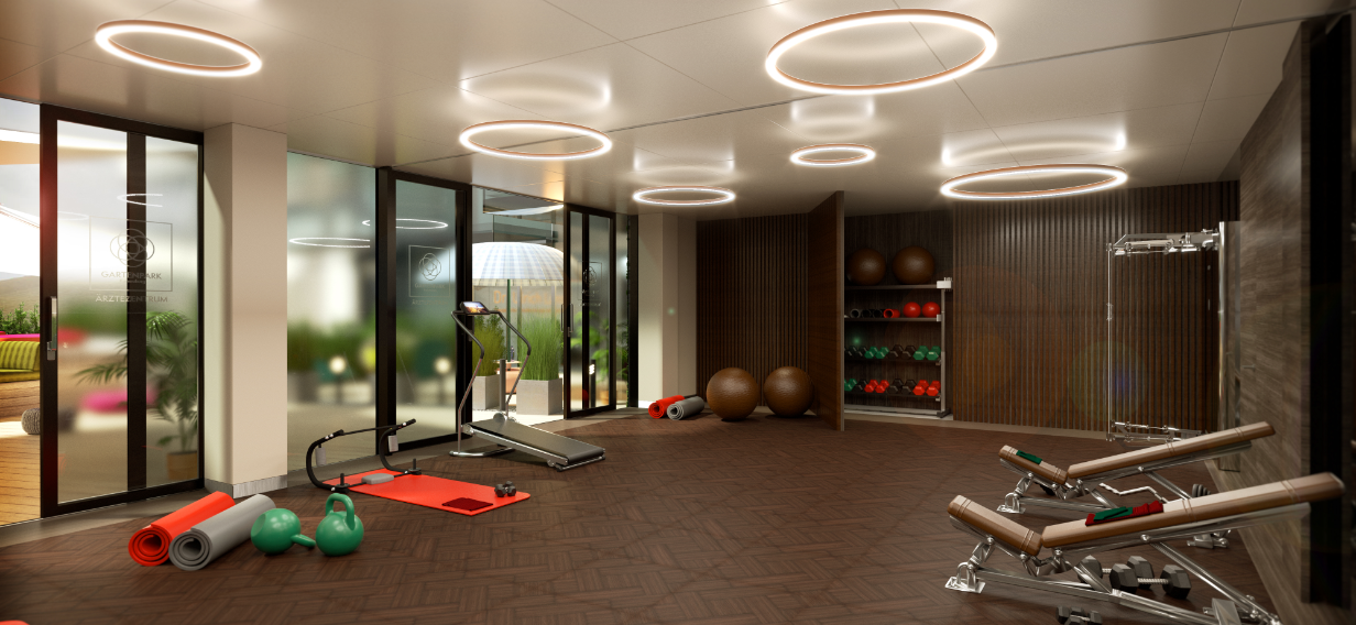 Movement area for physiotherapy